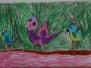 """Dalyvavome piešinių konkurse""""Laimės paukštė"""""""